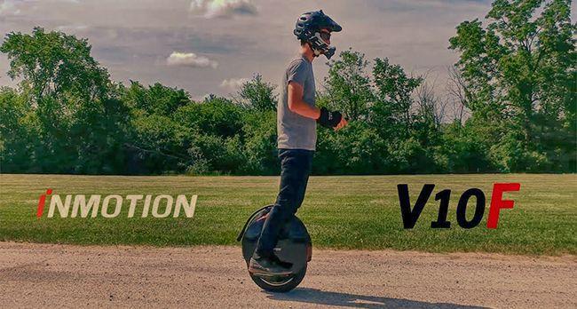 Elektrická jednokolka Inmotion V10F - Jízdní vlastnosti